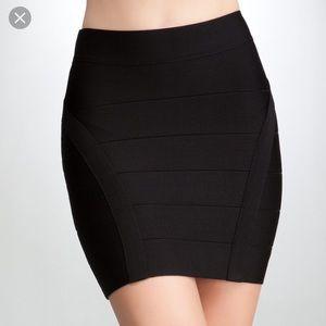 Bebe bandage mini skirt